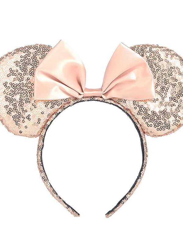 Sequin Minnie Mouse Hairband (Rose Gold)