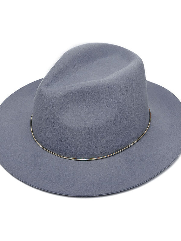 Fedora Woollen Hat (Grey)