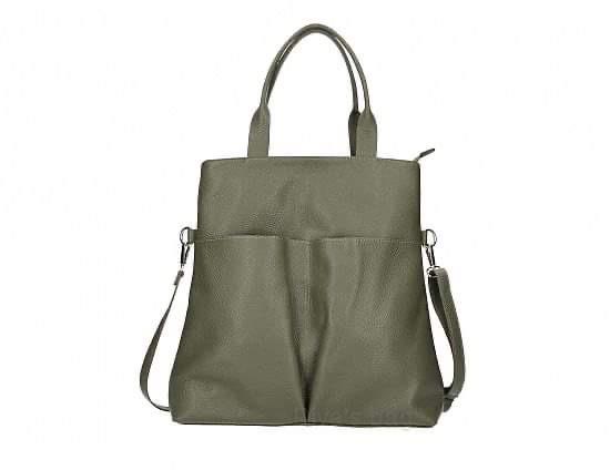 Khaki Leather handbag