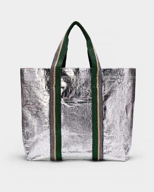 Metallic shopper bag for life