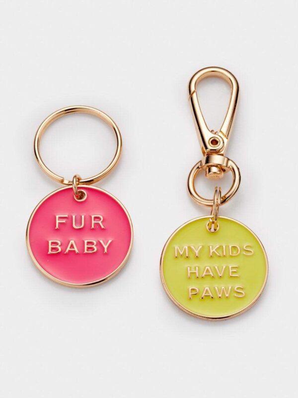 Fur baby dog collar charm