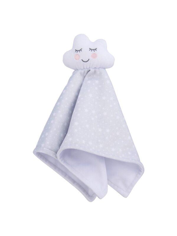 Fluffy cloud baby comforter
