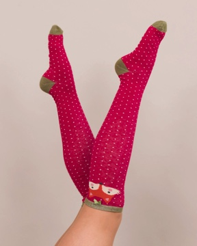 Wellington boot socks - Foxy lady