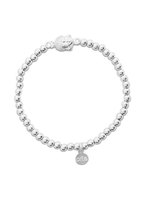 Buddha head beaded bracelet