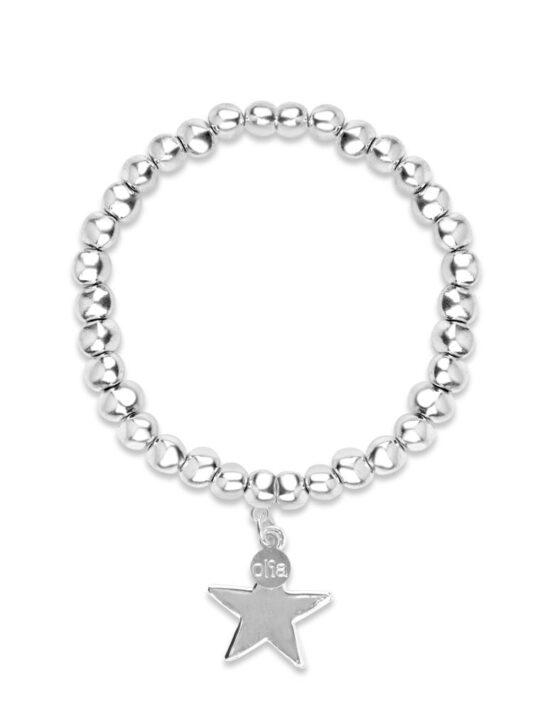 Chunky star bracelet - Silver