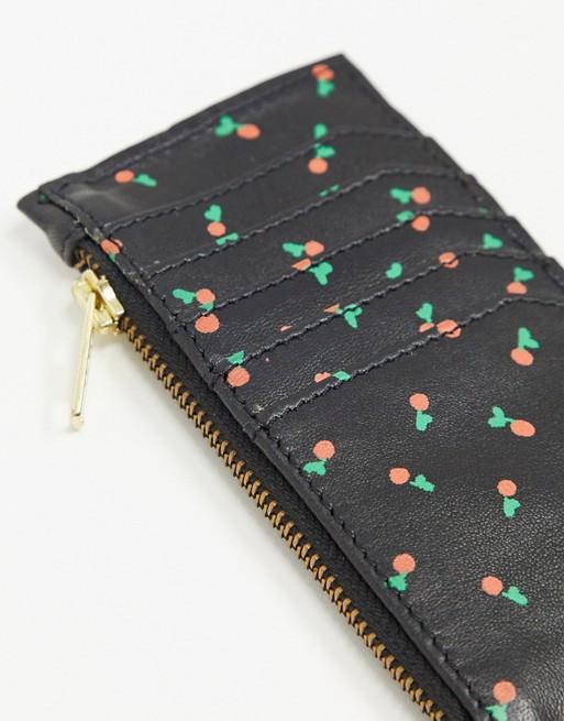 Leather cherries Purse/cardholder