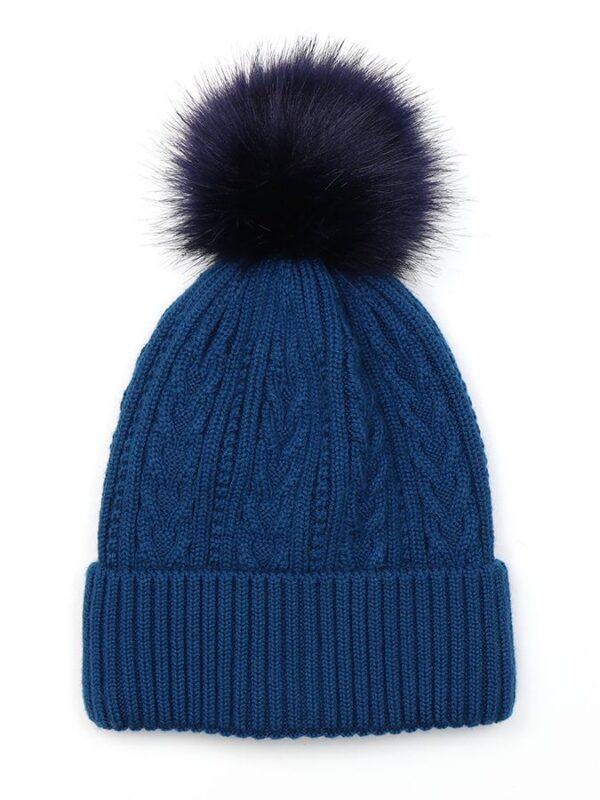 Teal Bobble hat