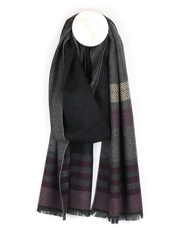 Men's striped scarf