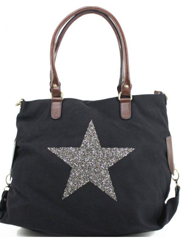 Black large star bag