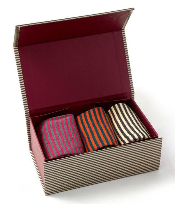 Men's Bamboo Sock box - Stripes