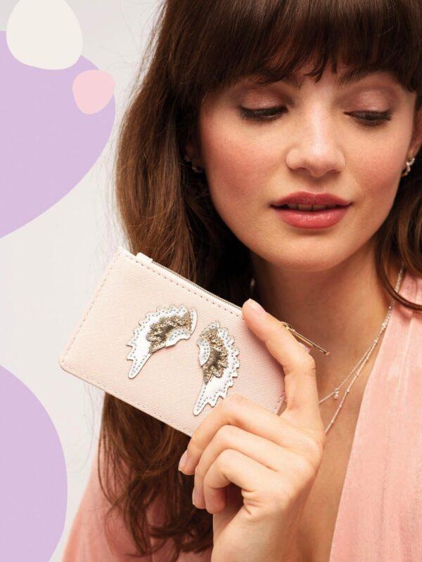 Estella Bartlett Angel Wing Card Holder/Purs