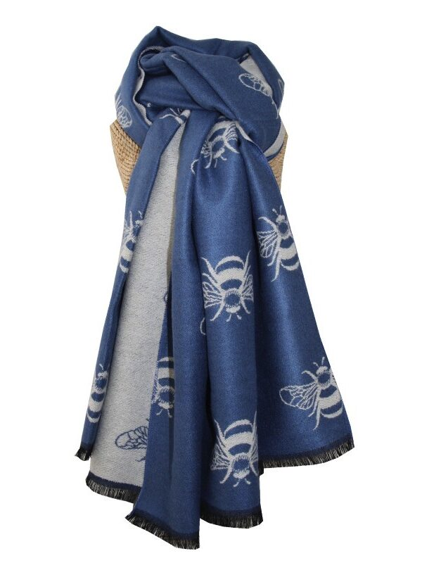 Bee Scarf -Blue