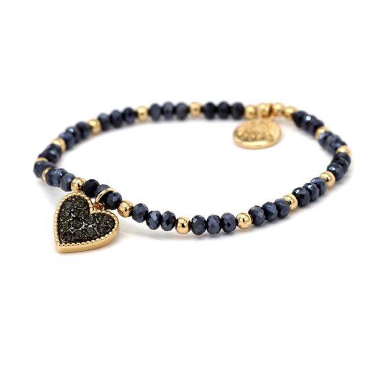 Heart Navy/Blue Bracelet