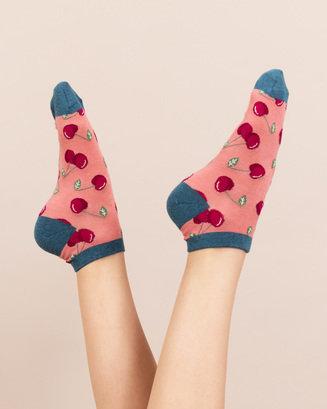 Bamboo Cherry Trainer Socks