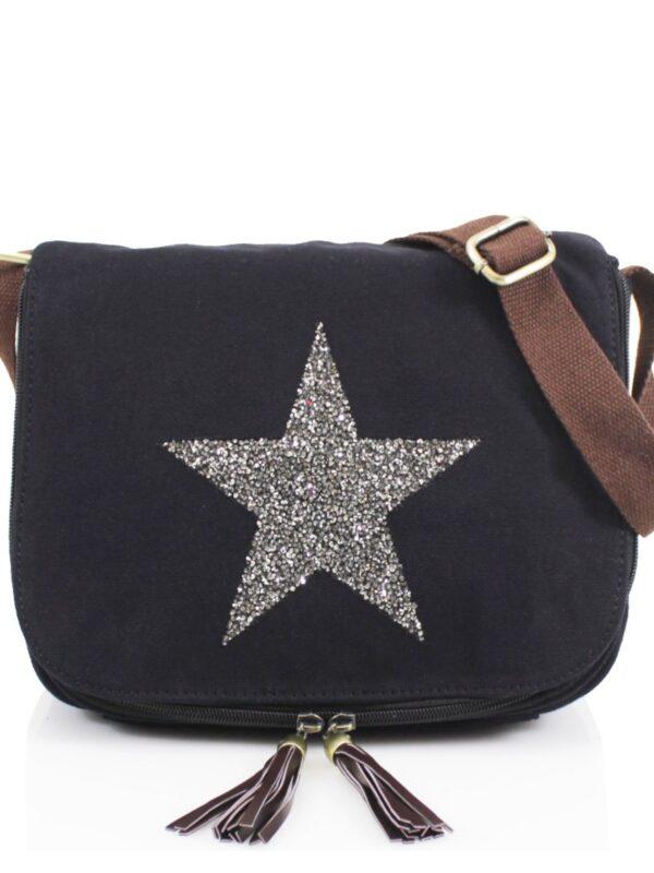 Embellished star large crossbody bag