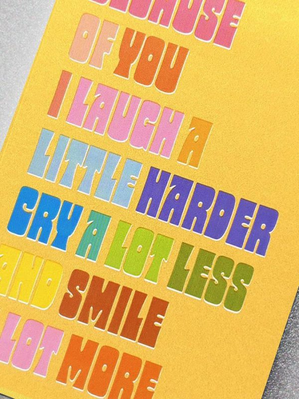Friendship Card - Because of you