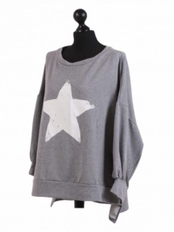 Light Grey Star Sweatshirt