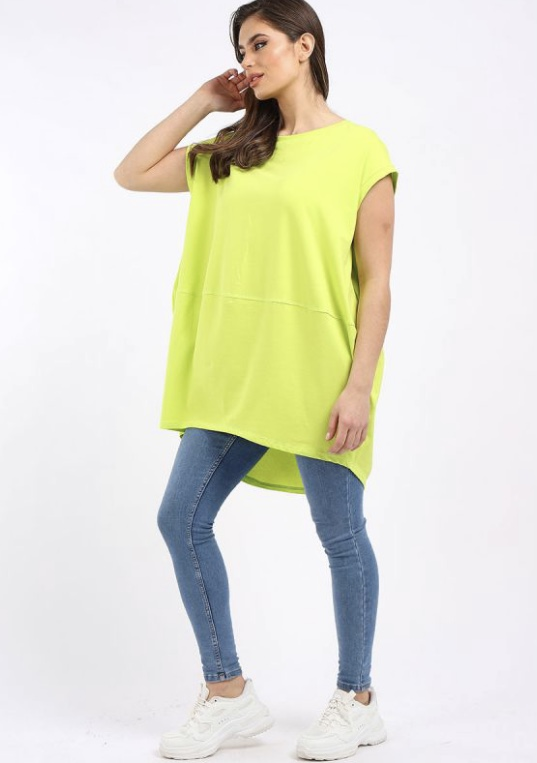 Oversized Tunic T-Shirt - Neon