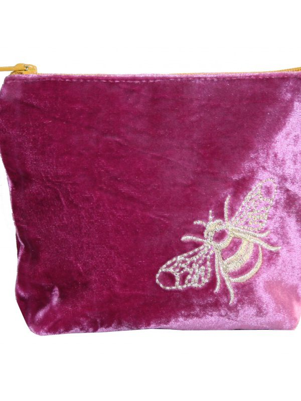 Coin Purse - Velvet Bee - pink
