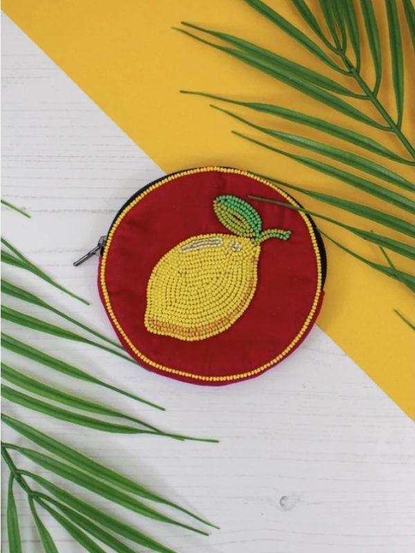 Velvet Lemon Purse