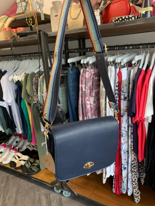 Navy Mulberry Style Bag