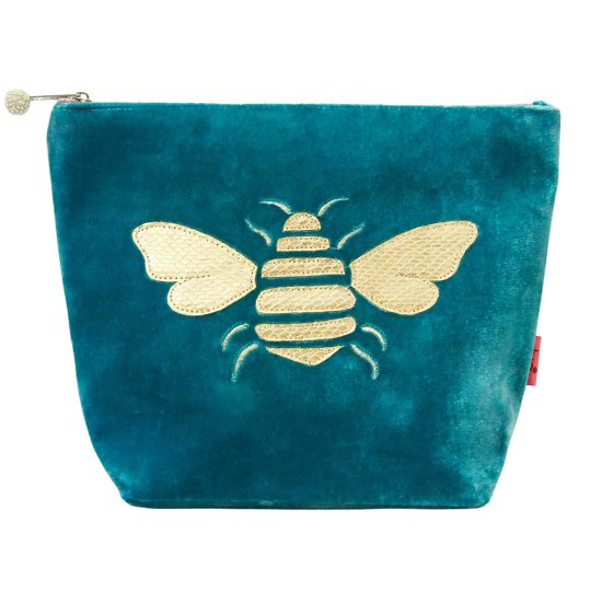 Velvet Bee Cosmetic Bag - Aqua
