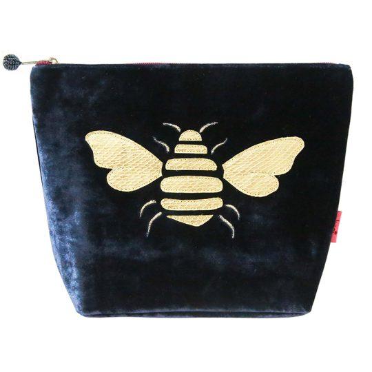 Velvet Bee Cosmetic Bag - Navy