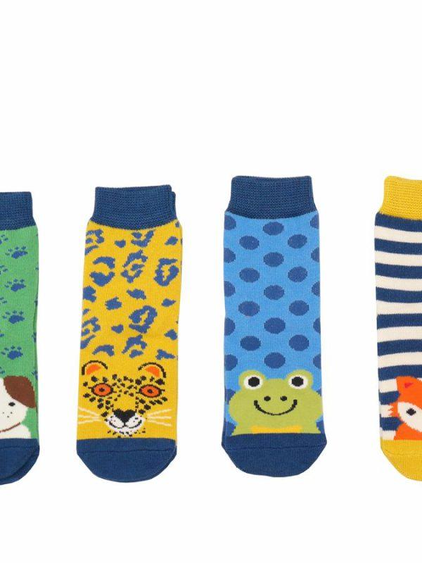 Boys Bamboo Socks - Animal Box Set (2-3yrs)